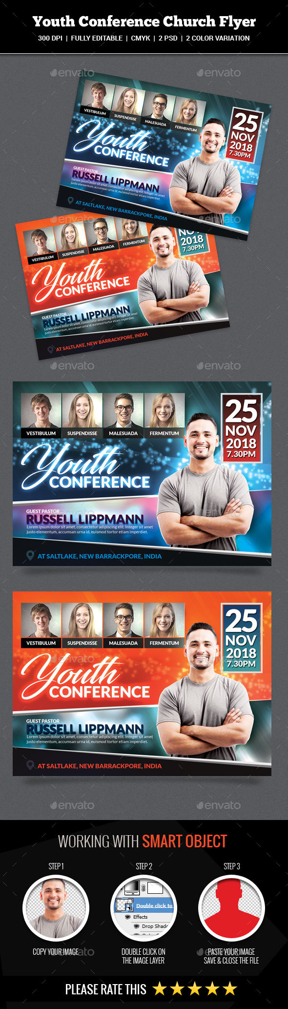 GraphicRiver Youth Conference Church Flyer 20361860