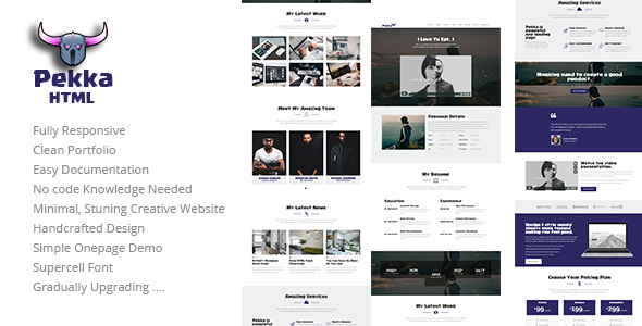 Pekka - Clean Personal Resume / Portfolio Template - Resume / CV Specialty Pages