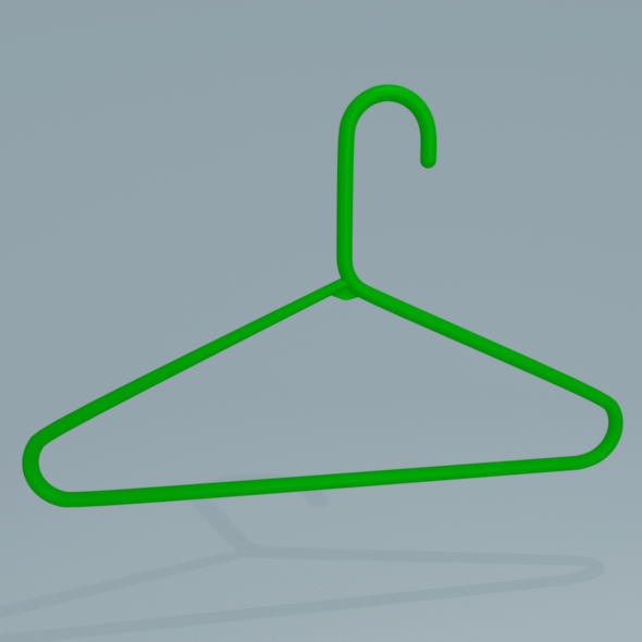 Plastic Hanger - 3DOcean Item for Sale