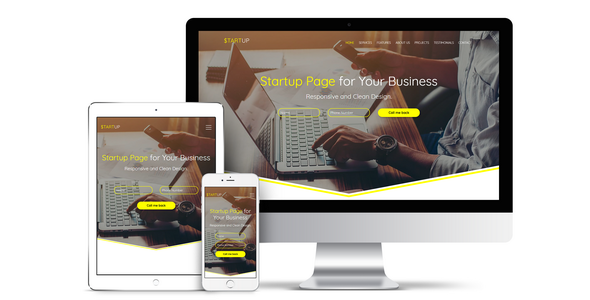 ThemeForest Startup Responsive Business Muse Template 20361952