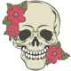Skull with Flowers - GraphicRiver Item for Sale