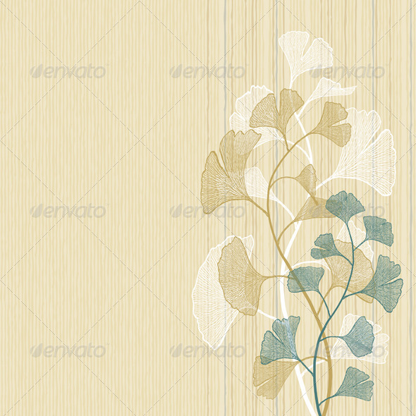 Ginkgo Background - Flowers & Plants Nature