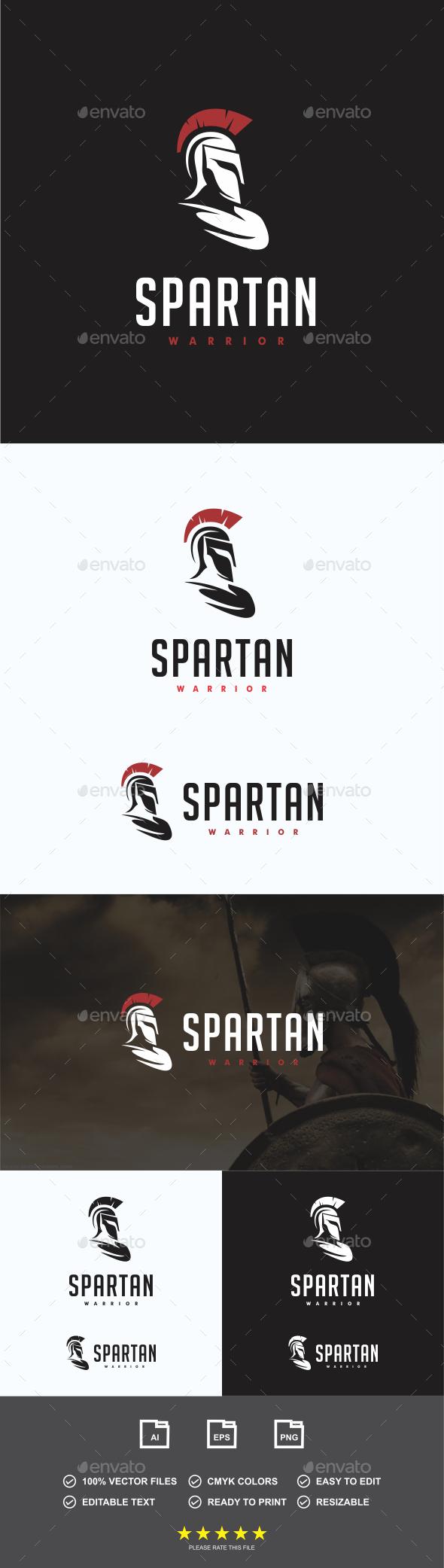 Spartan Warrior Logo - Humans Logo Templates