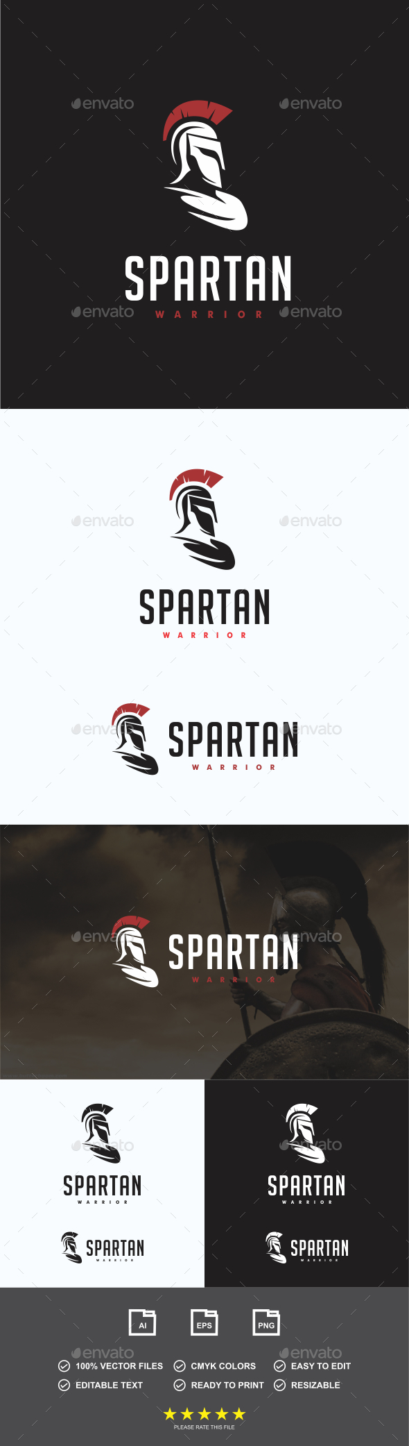 GraphicRiver Spartan Warrior Logo 20362093