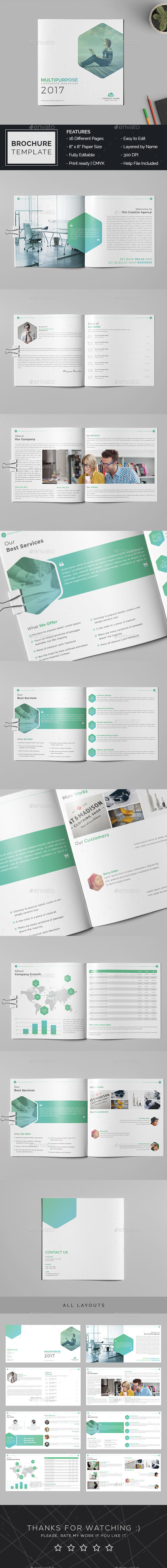 Company Profile Brochure Template By Mrremon Graphicriver