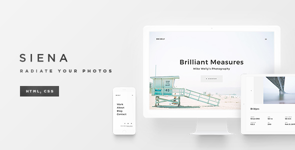 Siena - Clean Photography Template