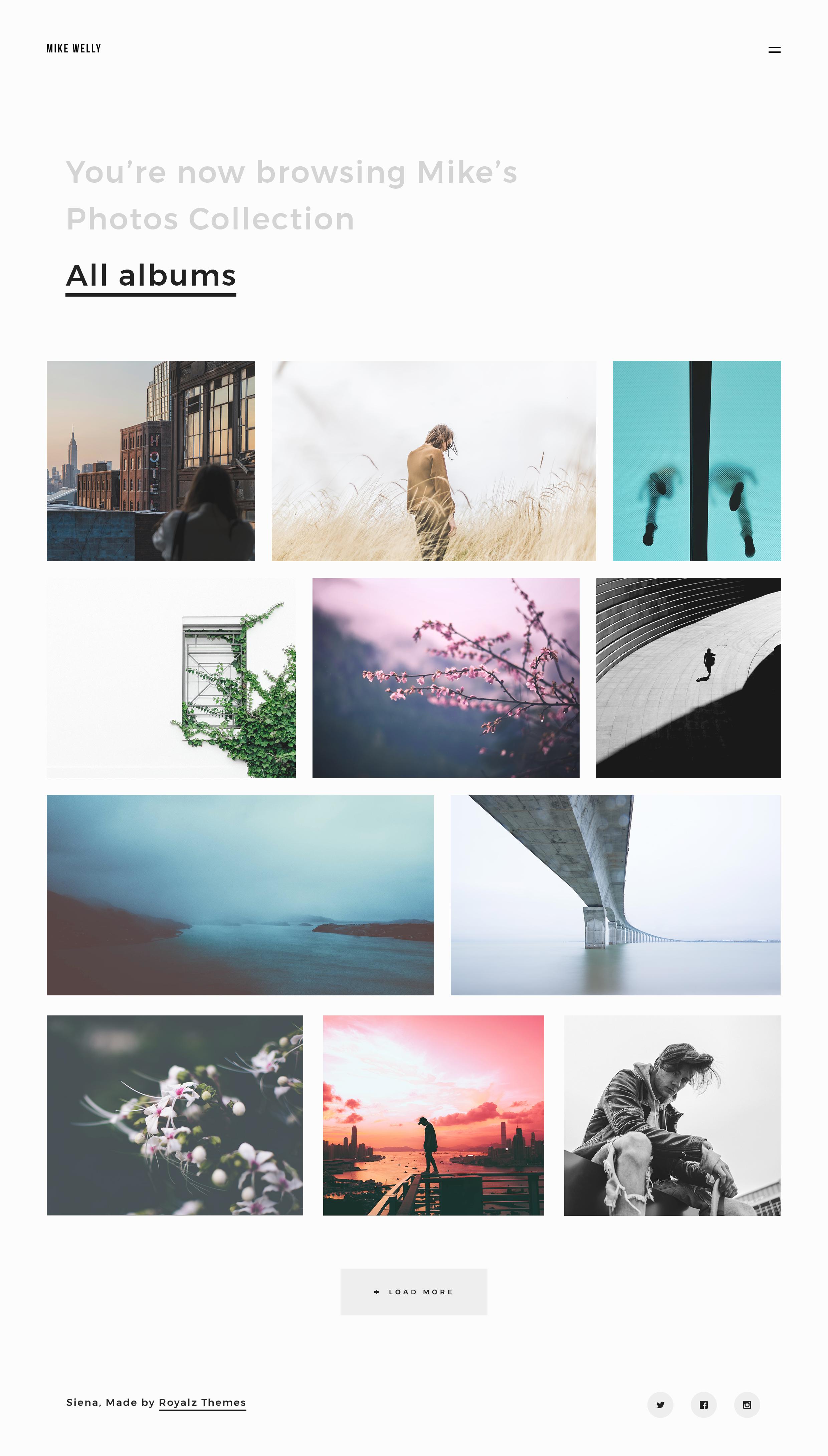 siena aesthetic photography portfolio template by royalzthemes themeforest. Black Bedroom Furniture Sets. Home Design Ideas