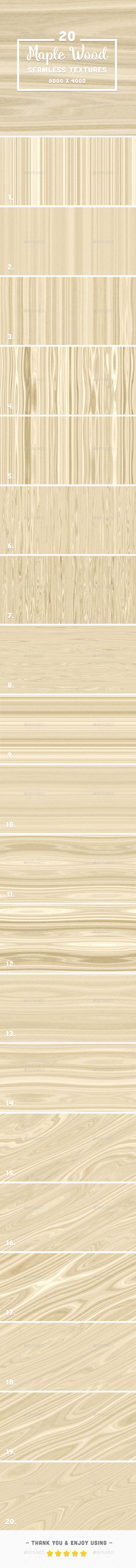 GraphicRiver 20 Maple Wood Seamless Background Textures 20362755