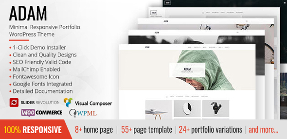Download ADAM - Minimal Responsive Portfolio WordPress Theme