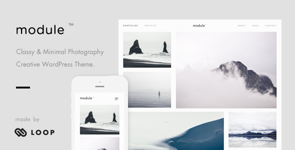 Module – A Minimalist Photography WordPress Theme - Photography Creative