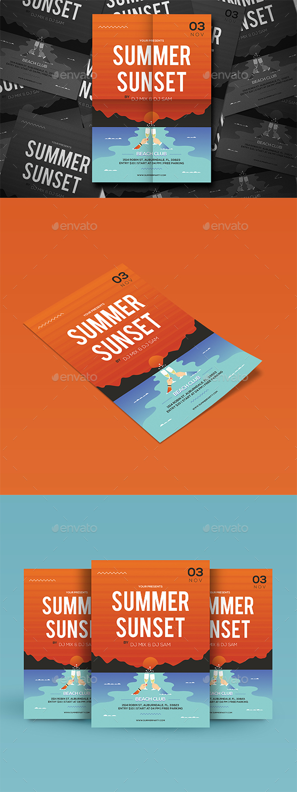 GraphicRiver Summer Party Flyer 20362857
