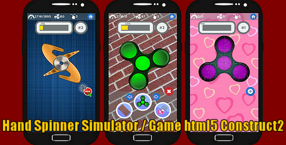 Fidget Hand Spinner Simulator - HTML5 Game + Capx - CodeCanyon Item for Sale