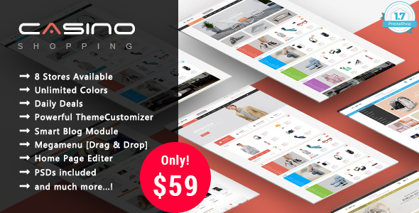 Casino - Shopping Responsive Prestashop 1.7 Theme
