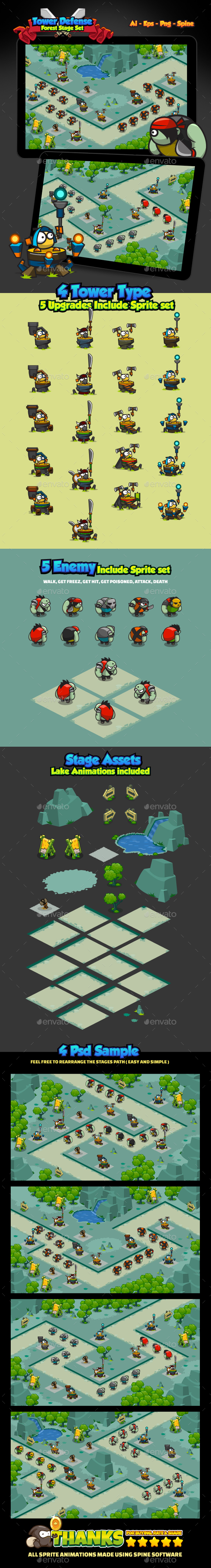GraphicRiver Tower Defense Forest Pack 20362981
