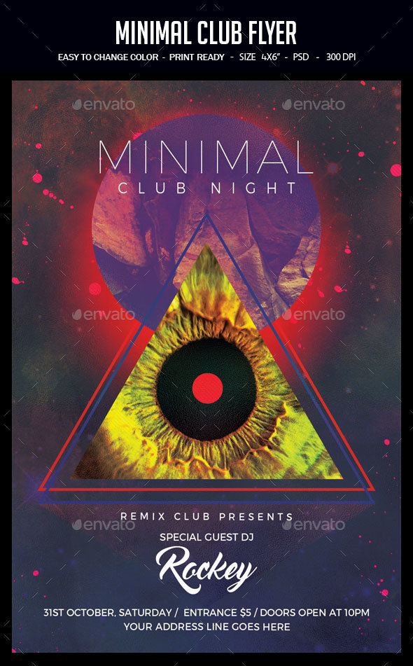 GraphicRiver Minimal Club Flyer 20363017