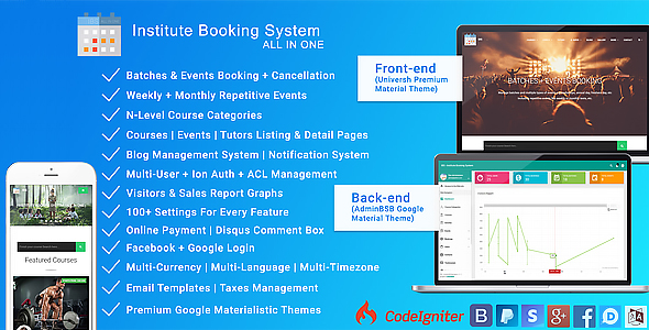 Institute Booking System V1.2 - Events & Batches Booking - CodeCanyon Item for Sale