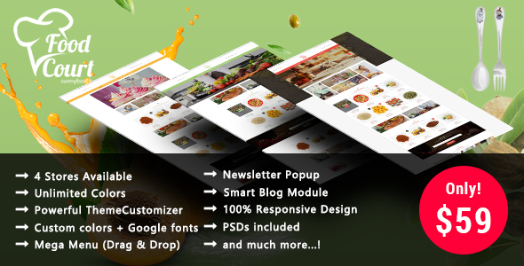 Organic Food - Responsive Prestashop Theme