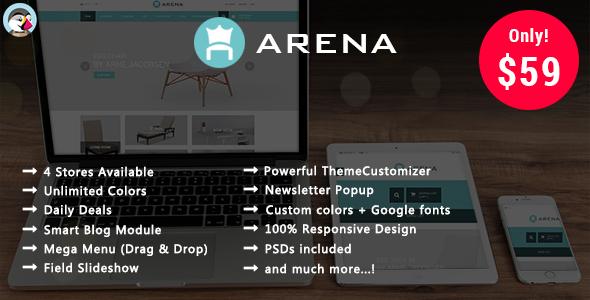 Arena - Furniture Responsive Prestashop Theme - Shopping PrestaShop