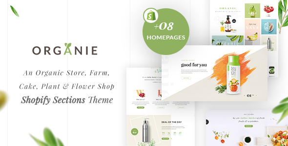 Organie - An Organic Store, Farm, Cake and Flower Shopify Sections Theme - Shopify eCommerce