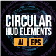 Set of Futuristic Circular HUD Elements - GraphicRiver Item for Sale