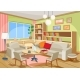 Vector Illustration of a Cozy Cartoon Interior - GraphicRiver Item for Sale