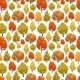 Colorful Autumn Forest Seamless Pattern Design