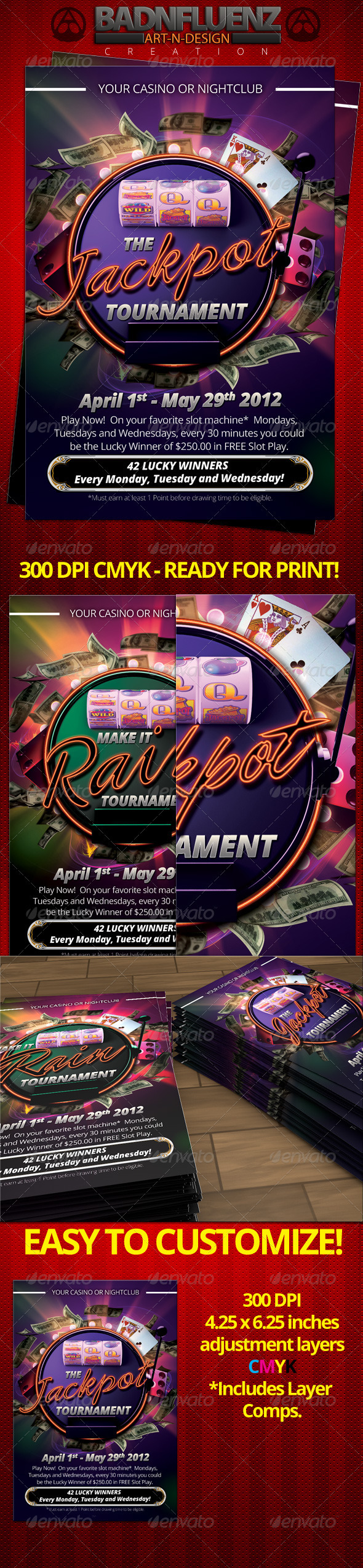 Casino 4x6 Flyer - Flyers Print Templates