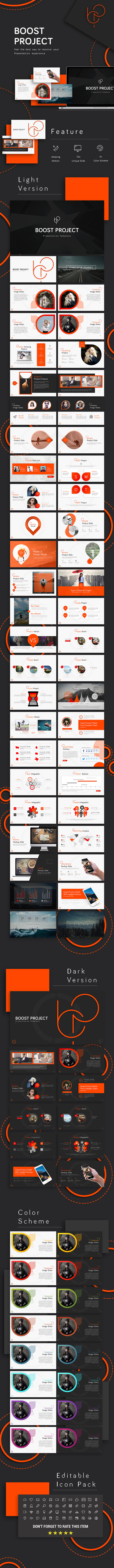 Boost Project Powerpoint Template - Business PowerPoint Templates