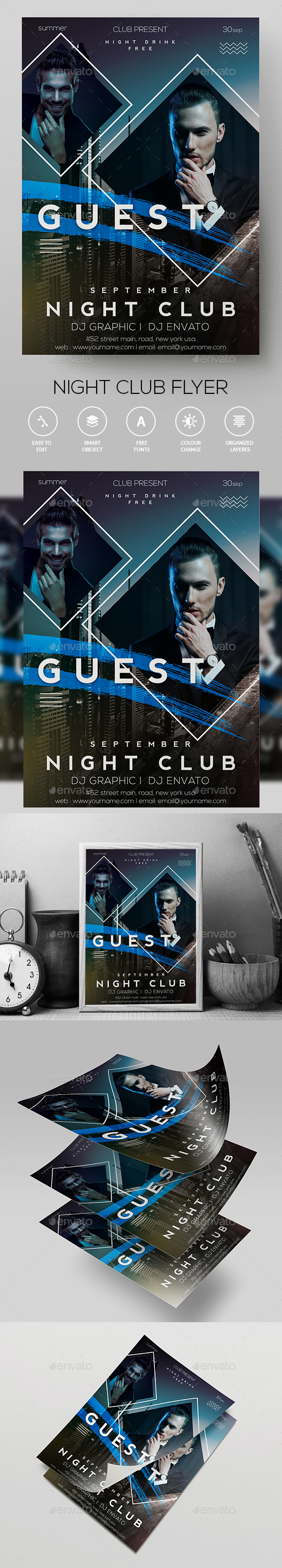 DJ  Club FLyer - Clubs & Parties Events