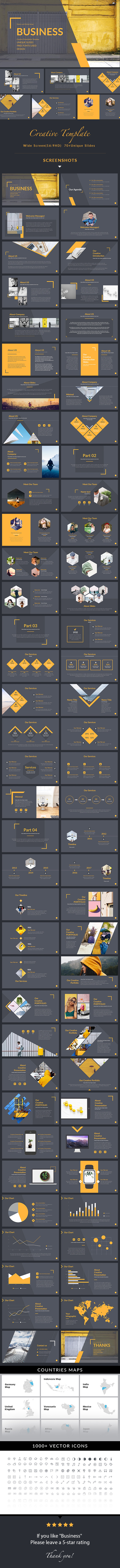 Business - Simple Multipurpose Powerpoint Template - Business PowerPoint Templates
