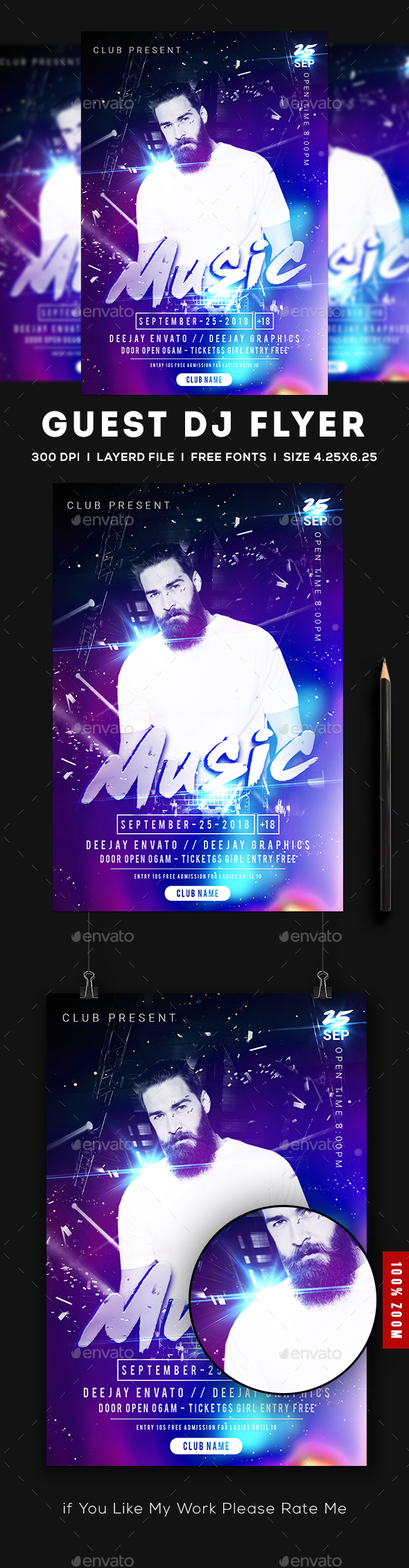 GraphicRiver Guest Dj Party Flyer 20363932