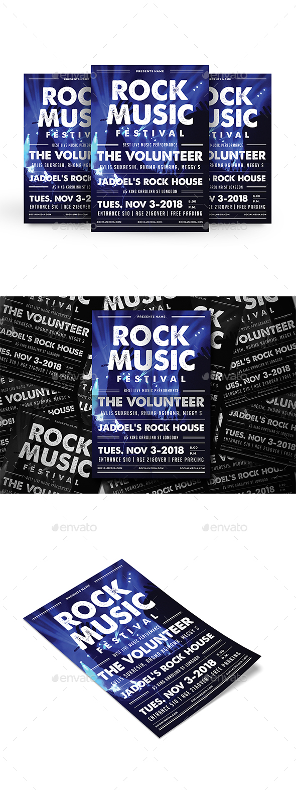 GraphicRiver Rock Festival Flyer 20364039