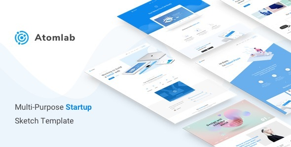 ThemeForest Atomlab Multi-Purpose Startup Sketch Template 20364198