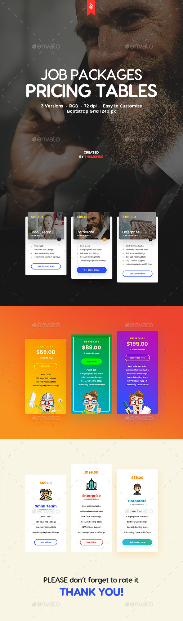 GraphicRiver Job Packages Pricing Tables 20360837