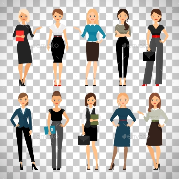 Women in Office Clothes - People Characters