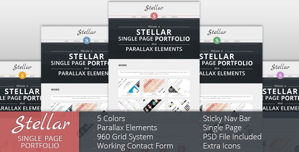 Stellar – Single Page Portfolio with Parallax