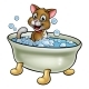 Cartoon Cat in Bath - GraphicRiver Item for Sale