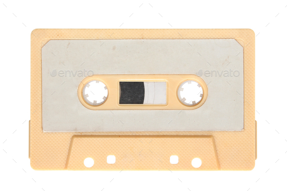 Yellow audio cassette