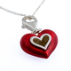 Red enamel heart necklace - PhotoDune Item for Sale