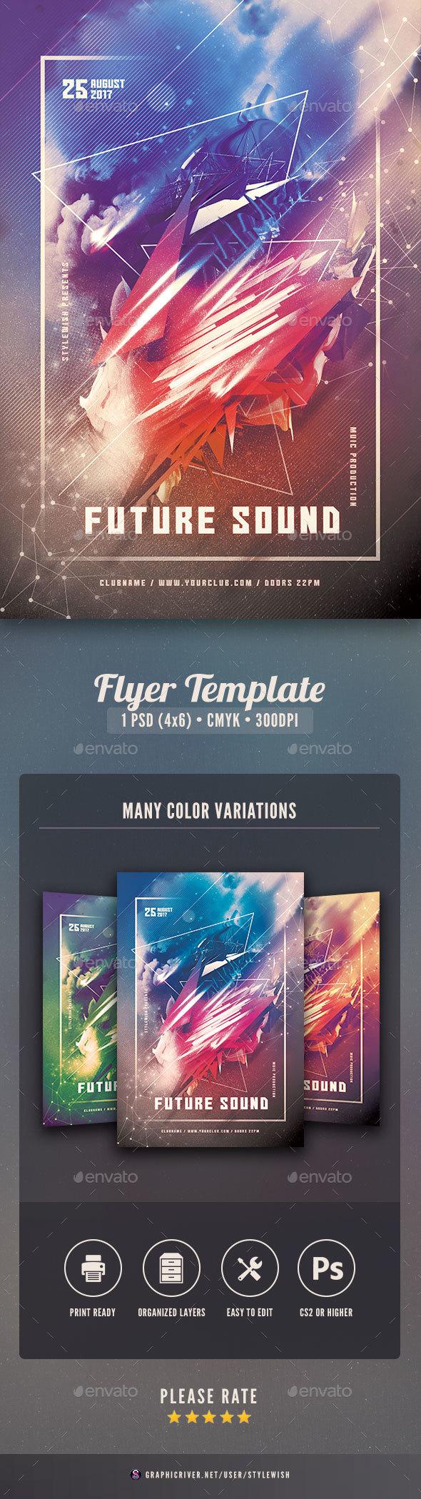 GraphicRiver Future Sound Flyer 20364499