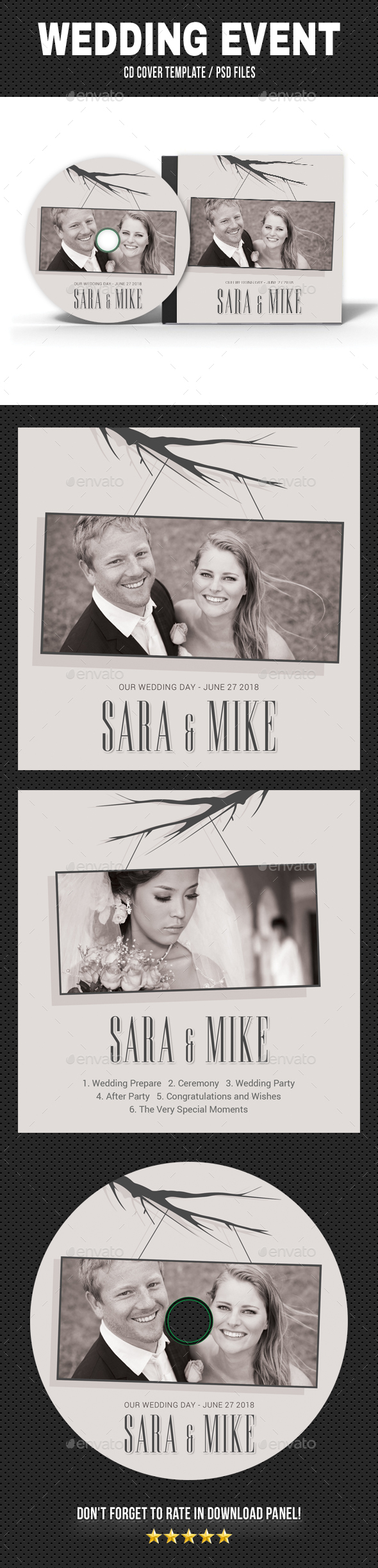 GraphicRiver Wedding Event CD Cover v20 20364524