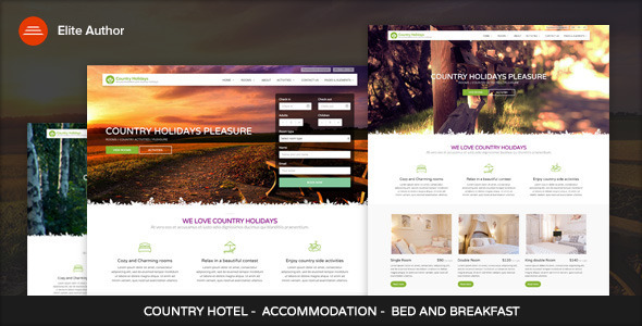 CountryHolidays - WordPress Country Hotel and Bed by vergatheme ...