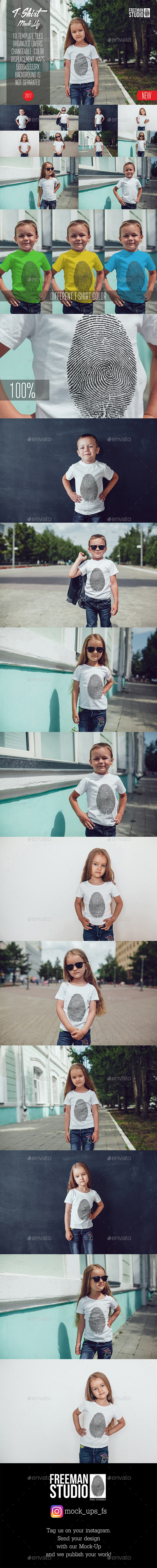 GraphicRiver Kids T-Shirt Mock-Up Vol.8 2017 20364580