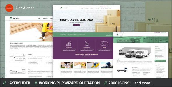 REMOVALS - Removals and Moving WordPress Theme - Corporate WordPress
