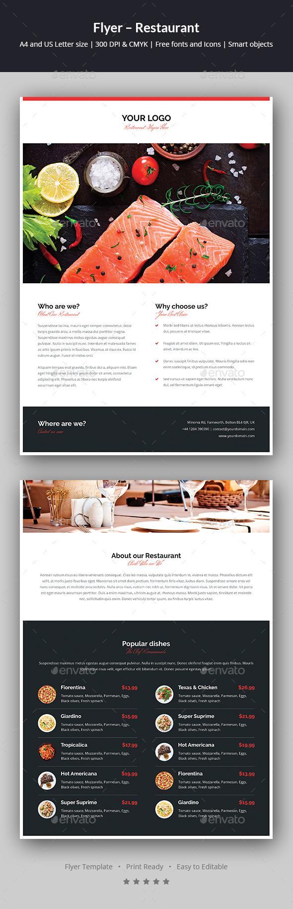 Flyer – Restaurant - Restaurant Flyers