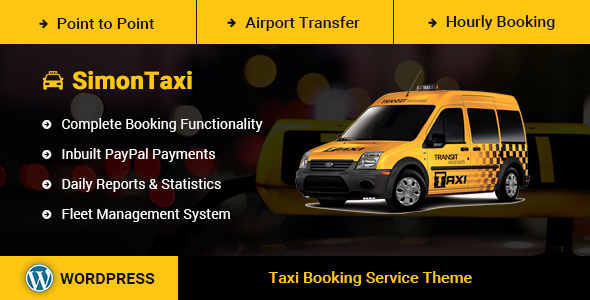 SimonTaxi - Taxi Booking WordPress Theme - Travel Retail
