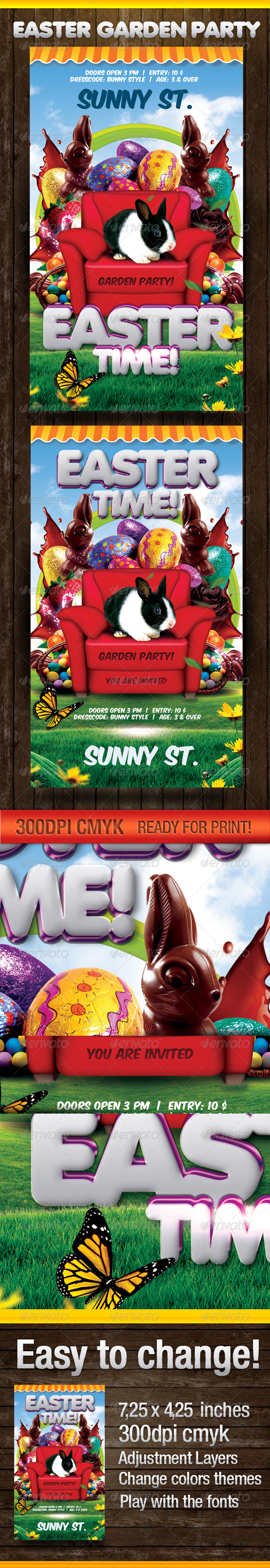 Easter Time Party - Flyers Print Templates