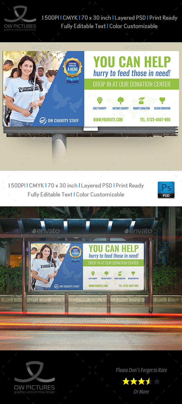 GraphicRiver Volunteer Billboard Template 20364798