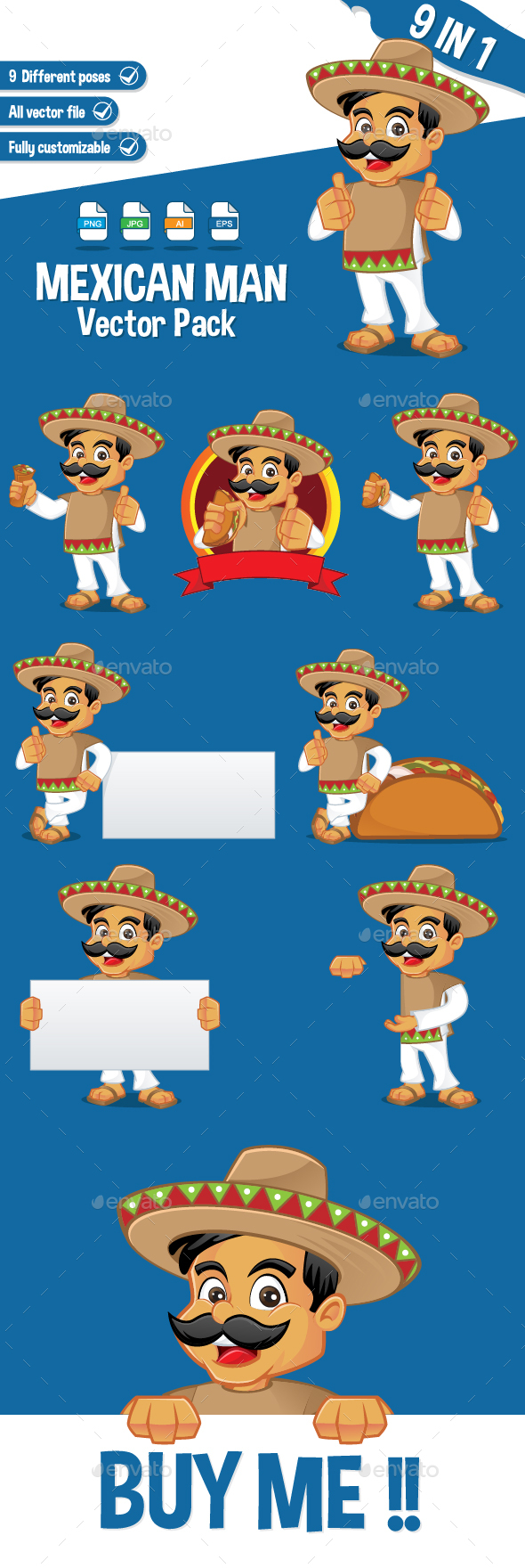 Mexican Man - People Characters