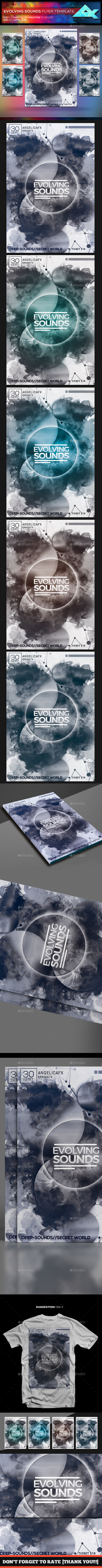 GraphicRiver Evolving Sounds Flyer Template 20364899